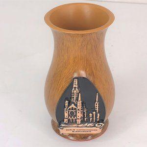 Berlin Kurforstendam Miniature Wooden Souvenir Vas